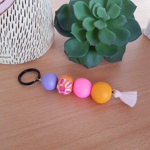 Purple, Pink and Orange Keyring