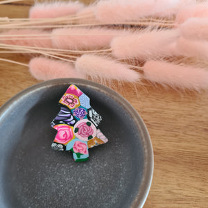 Floral Christmas Brooch