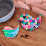 Large Rainbow Bird Brooch