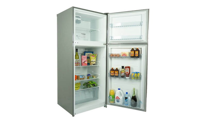 MIDEA Fridge Freezer 400L Stainless Steel