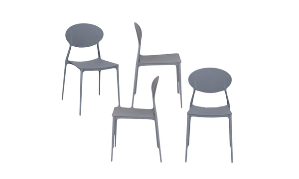 Zara Dining Table & 4 Grey Dining Chairs - Layaway Depot NZ