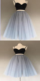 Fashionable Sexy Two Pieces Simple Short Homecoming Prom Dresses, Affordable Short Party Prom Sweet 16 Dresses, Perfect Homecoming Cocktail Dresses, VPBD139