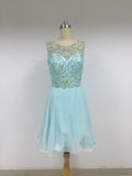 Discount Short In Size Scoop Neckline Sleeveless Rhinestone Homecoming Dresses,VPDD014
