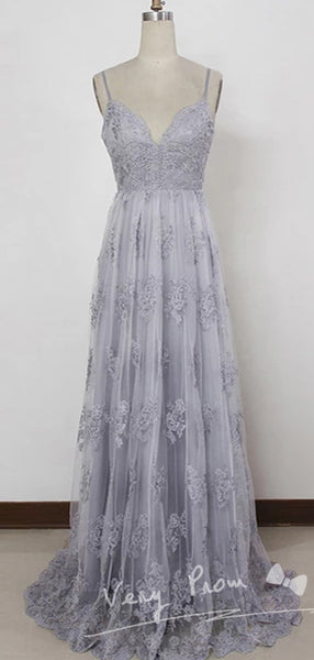 Popular Shimmering Tulle Strapless Neckline Chapel Train A-line Prom Dresses With Beading,VPPD016