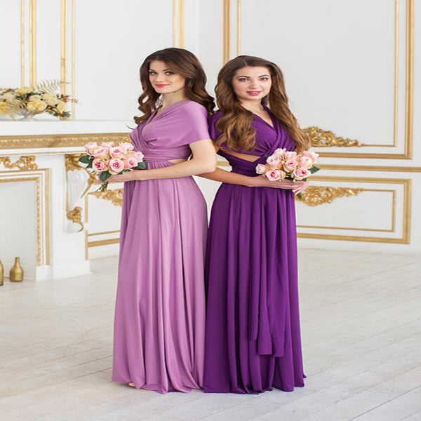Beautiful A-Line Chiffon Long Bridesmaid Dresses,Mismatched Floor Length Bridesmaid Dresses,VPWG176