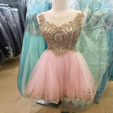 Charming V-Neck Straps Short Pink Homecoming Dresses,Beautiful Juniors Party Dresses ,VPBD178