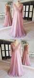 A-Line V-Neck Long Sleeves Cheap Bridesmaid Dresses,VPWG261