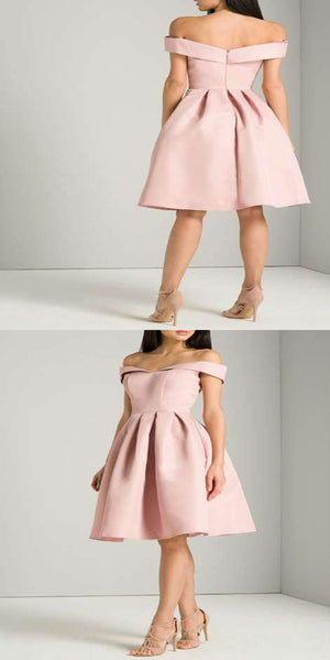 Exquisite Off Shoulder Pink Cheap 2018 Homecoming Dresses ,Custom Made Homecoming Dresses,Affordable Homecoming Dresses,VPBD027