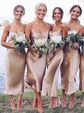 Mermaid Spaghetti Straps Short Bridesmaid Dresses,VPWG331