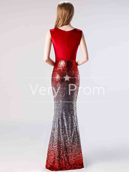 Beautiful Glamorous Acetate Satin Off-the-shoulder Neckline Sheath Prom Dresses With 3D Flowers ,VPPD035