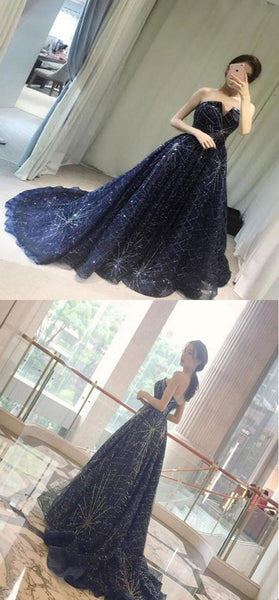 A-Line Sweetheart Sleeveless Floor Length Prom Dresses,VPPD432