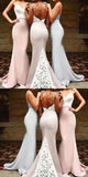 Fashionable Mermaid Sweet Heart Open Back Lace Inexpensive Long Bridesmaid Dresses,VPWG057