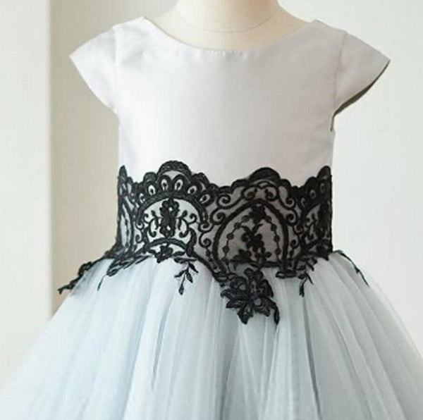 Cap Sleeves Tulle With Lace Lovely Beautiful Cheap Short  Wedding Flower Girl Dresses, FG0093