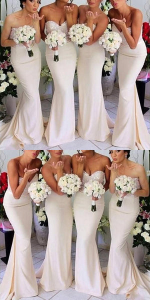 Brand-New Mermaid Sweetheart Long Most Popular Inexpensive Online Bridesmaid Dresses,VPWG063