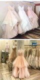 Excellent A-Line Pink Tulle Prom Dresses With Spaghetti Straps,Simple Inexpensive Prom Dresses,Affordable Evening Dresses,VPPD096