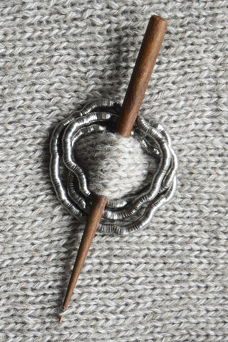 The Metal Snake Shawl Pin