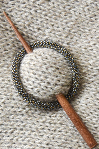 Beaded Shawl Pin