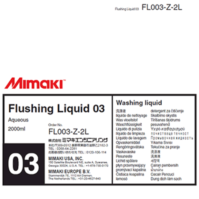 Mimaki - Flushing Maintenance Liquid- 2Liter Pack