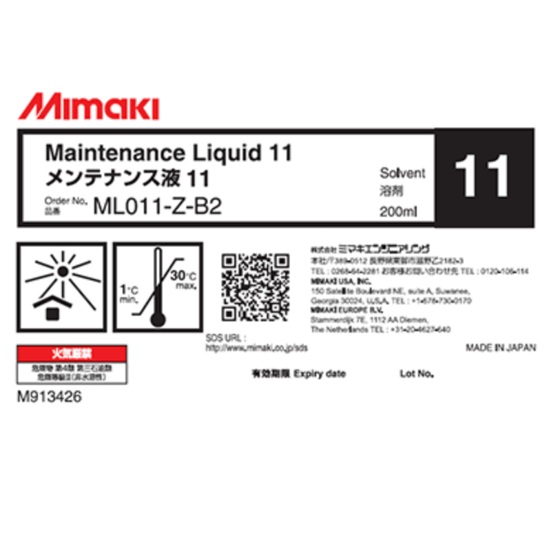 Mimaki - Maintenance Liquid 11 - 200mL Bottle