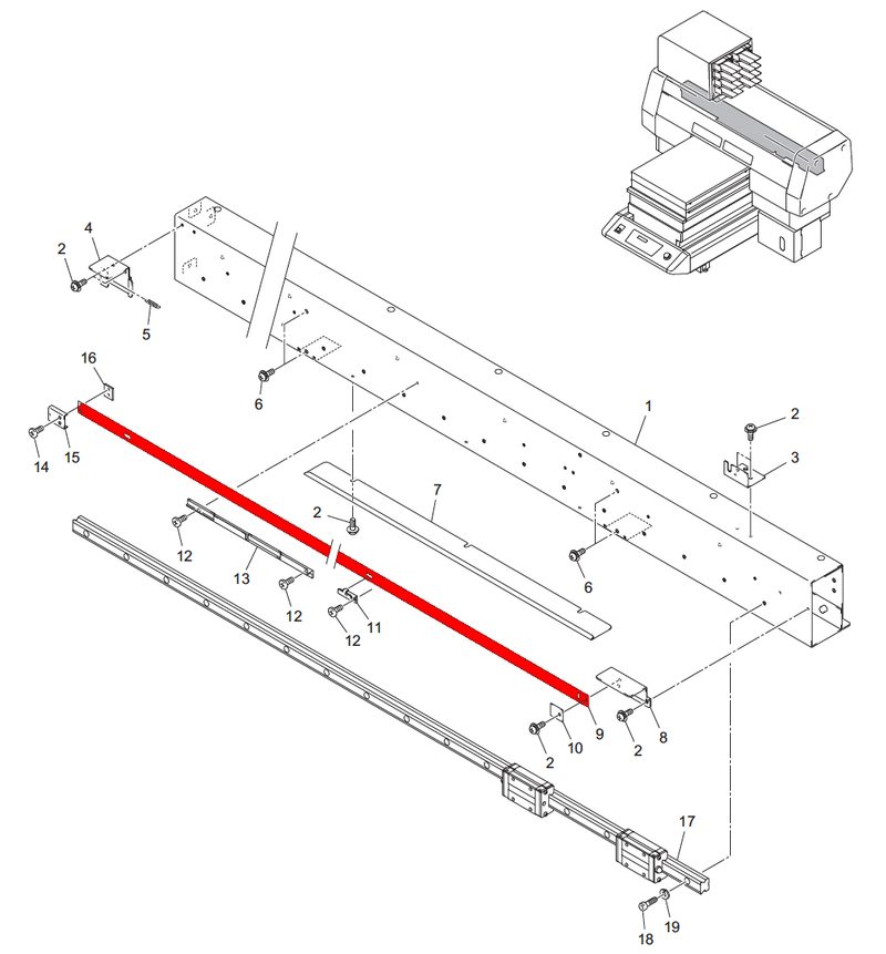 UJF Series Linear Encoder Scale 1250