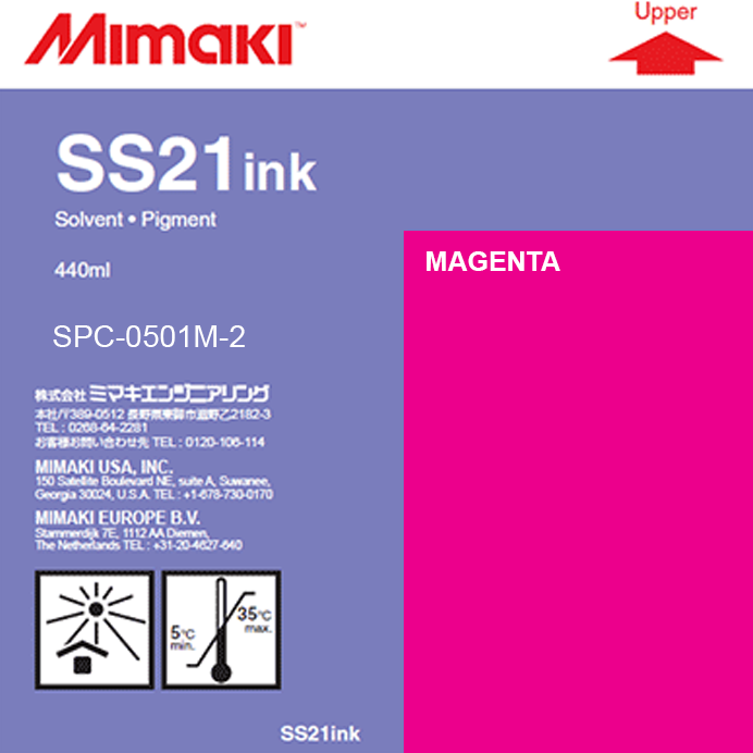 Mimaki 440ml - Solvent Ink Cartridge - SS21