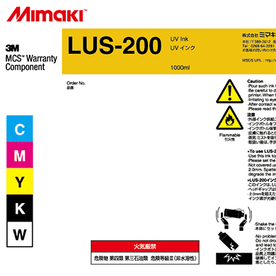 Mimaki 1L - UV Curable Ink Bottle - LUS-200