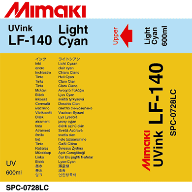 Mimaki 600mL - Curable UV ink Packs - LF-140