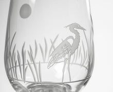 Load image into Gallery viewer, Heron Stemless Wine Glass