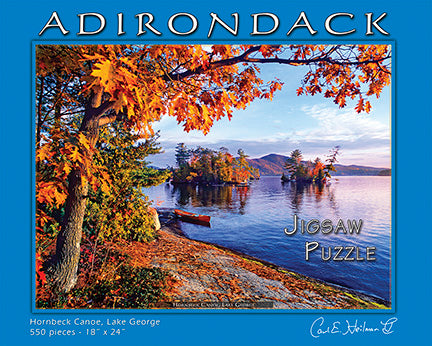 Hornbeck Canoe on Lake George Puzzle