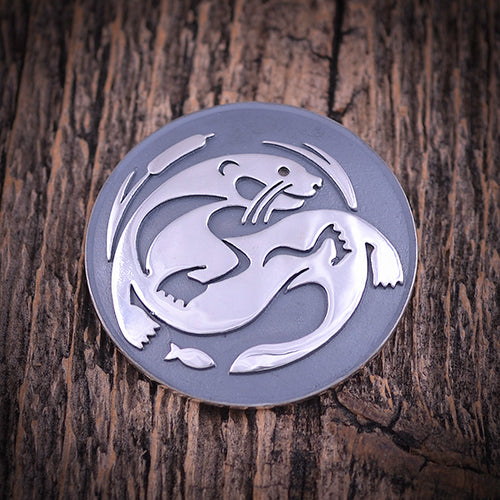 Sterling Silver Otter Pin
