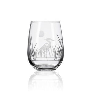 Heron Stemless Wine Glass