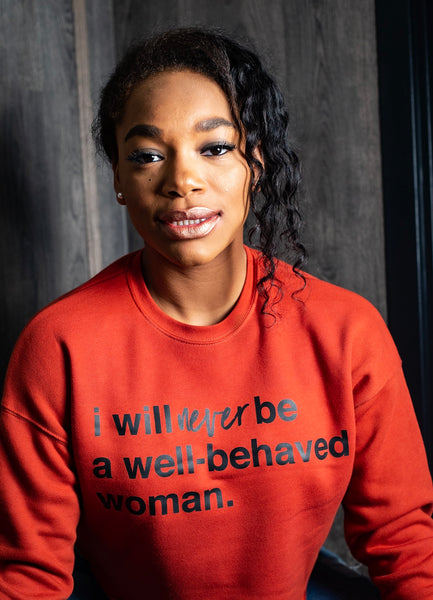 Never Well-Behaved Crop Top Sweatshirt
