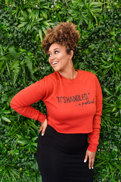 It's Handled Publicist Crop Top Sweatshirt