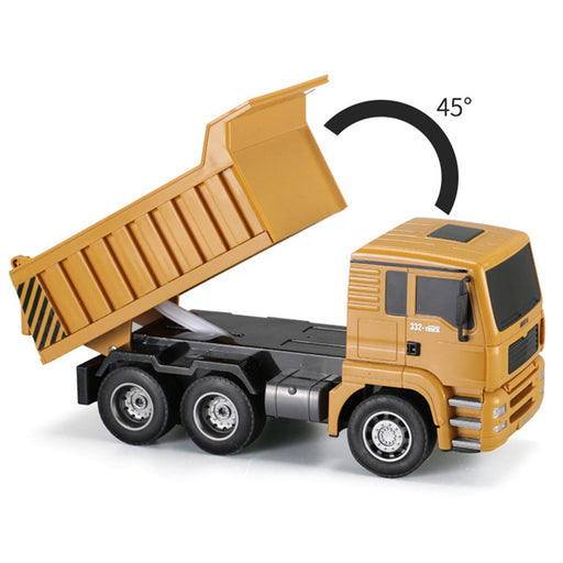 RC Engineering Dump Truck 1:18 2.4G 6CH Transport Truck Construction Vehicle Model