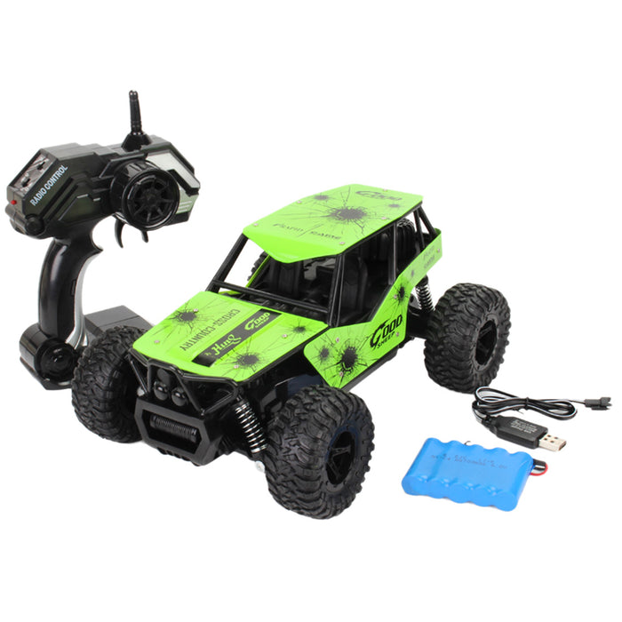 RC Cars Off-Road Rock Vehicle Truck 2.4Ghz 2WD High Speed 1:16 Remote Control Rally Racing Cars with Simulated Seat