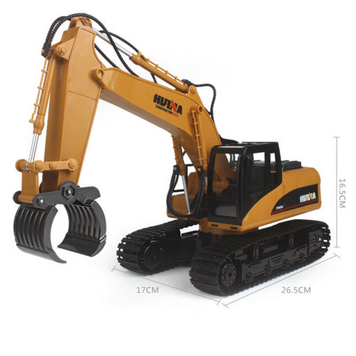 16 Channel Remote Control RC Fork Excavator, Construction Grapple Fork Tractor ~ Metal Fork