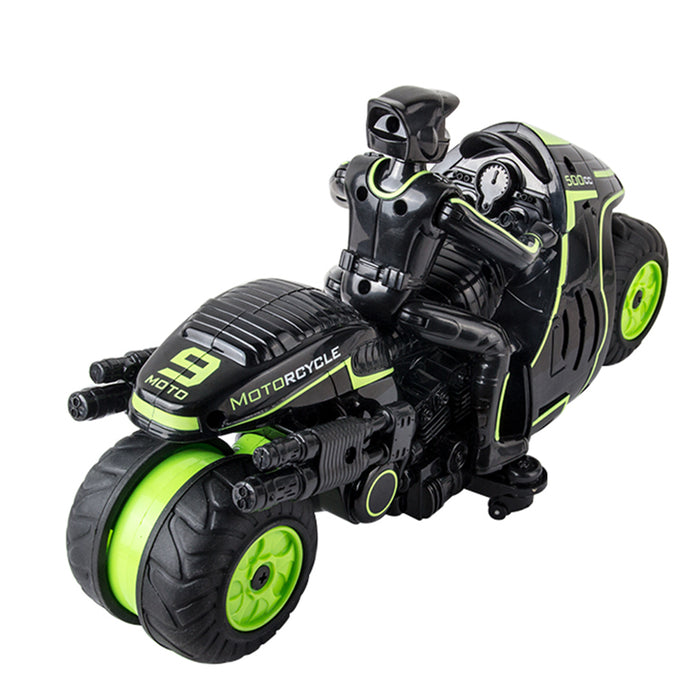 1:18 Scale 2.4Ghz 360° Rotation RC Motorcycle Goes on 2 Wheels Remote Control Motor Bike for Kids