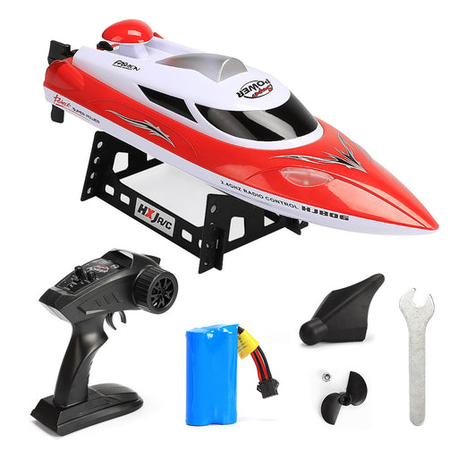 RC Racing Boat Remote Control Boat 2.4GHz 20km/h High Speed Electric 180 Degree Flipping RC Racing Boat Perfect Toy Pools Lakes