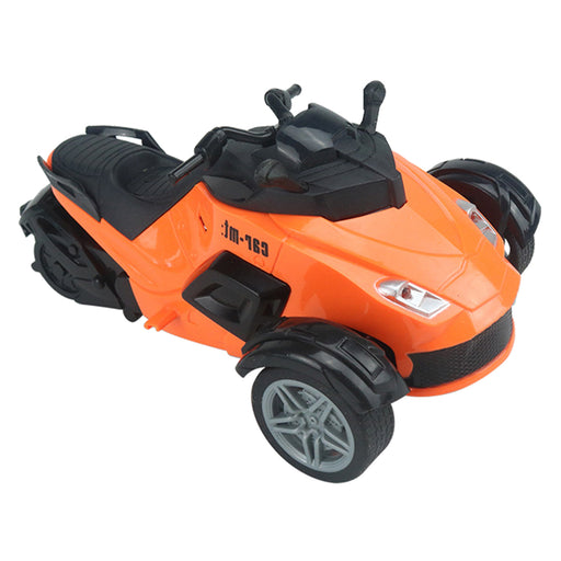 1:14 4CH High-speed Remote Control Motorcycle Goes on 3 Wheels RC Motorcycle Toy with LED Light for Children