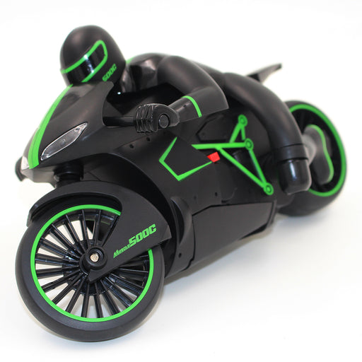 2.4Ghz 4 Channel RC Motorcycle with Light High-speed RC Racing Drift Motorbike Goes on 2 Wheels