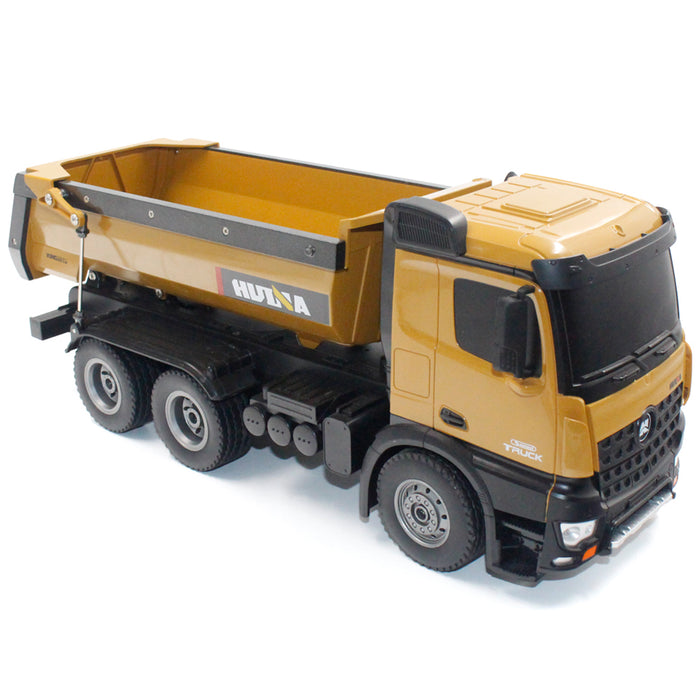 RC Dump Truck 1/14 Scale 2.4GHz RC Dumping Truck Car Remote Control Engineering Vehicle Toy Gift for Kids