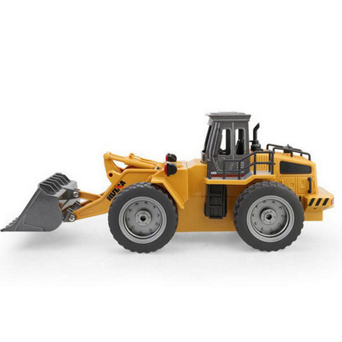 Front Loader 6 Channel Full Functional 1:18 2.4Ghz RC Remote Control Construction Toy Tractor with Lights & Sounds