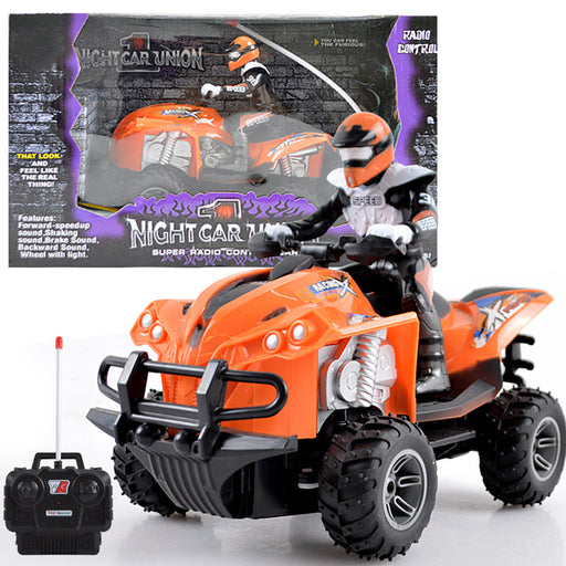 Remote Control Quad Bike, Multi-Functional 1: 20 Scale 4-wheeled RC Motorcycle for Kids