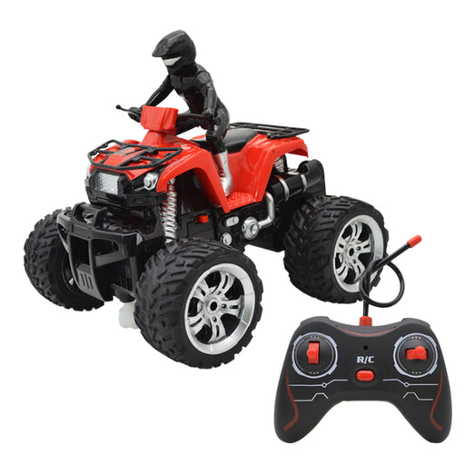 Remote Control Quad Bike, Multi-Functional 360° Rotation 4-wheeled RC Motorcycle Remote Control Toy Quad Bike for Kids, Teens and Adults