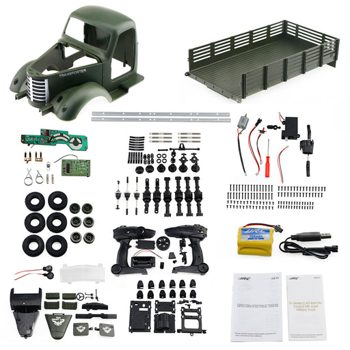1:16 2.4G 6WD DIY Assembly RC Military Truck Model Car Toy