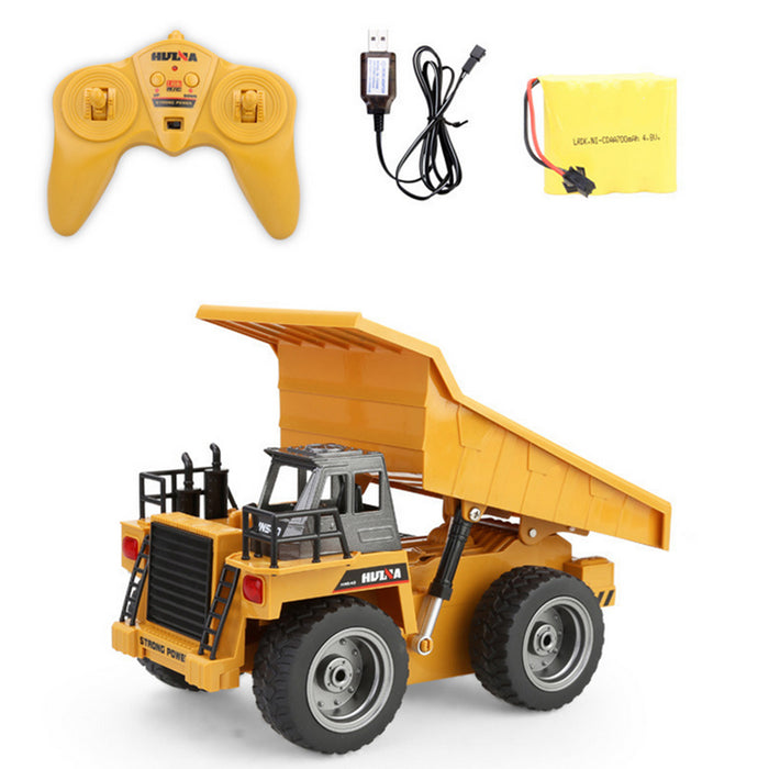 RC Remote Control Truck 1:18 Dump Truck Construction Vehicle Toy 2.4Ghz 6 Channel Full Function Truck Toy