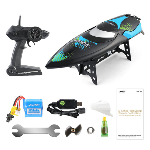 Remote Control Boat, 2.4G High Speed RC Boat for Kids/Adults,Electric Radio Remoter Control Racing Boat with Double-Hatch Protection Waterproof Hull & LCD Display Toys for Lakes Pools