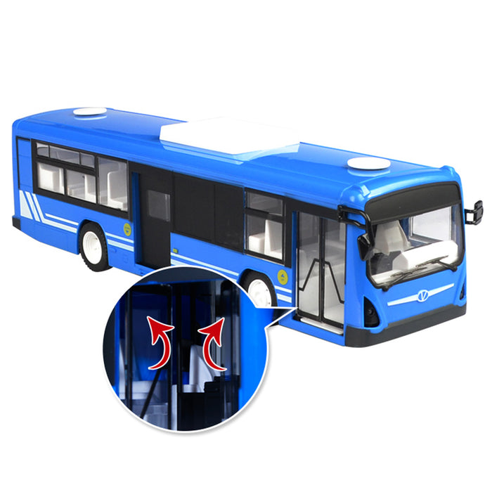 RC Car Bus 2.4G 6 CH City Express Model RC Toy Car with Realistic Light and Sound