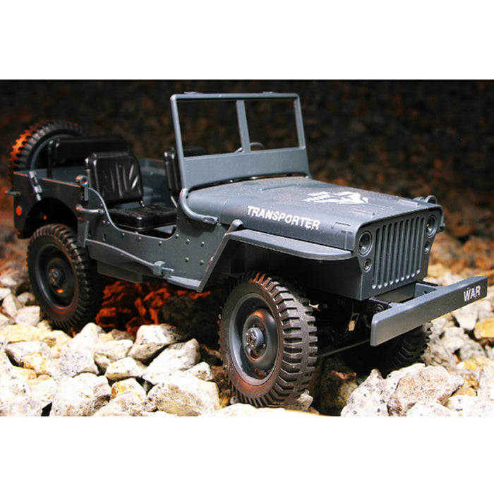 RC Hobby Toys Military Truck Off-Road Sport Cars 1:10 4WD 2.4Ghz Rock Crawler Vehicle