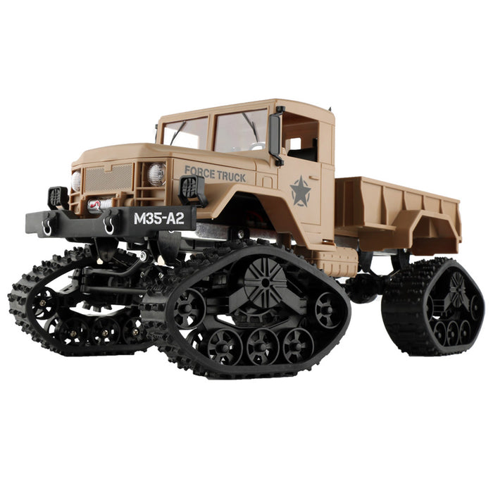 RC Military Truck, 1:16 4WD Off-Road Crawler Army Car, 2.4G Remote Control Hobby Toy RTR Car for Kids Adults Racing Training